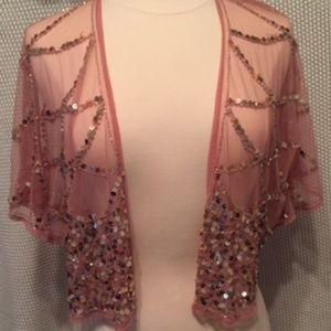Pink, Sequin Shrug Forever 21
